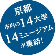 京都市内の14大学15ミュージアムが集結!