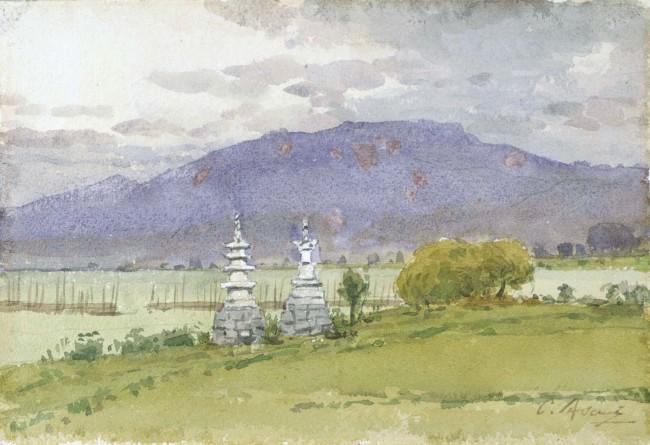浅井忠 《琵琶湖風景》 1905年 (第5期)