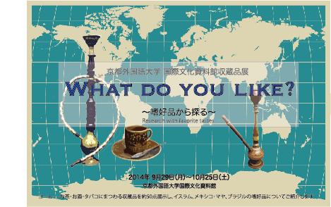 収蔵品展「What do you like?  〜嗜好品から探る」」