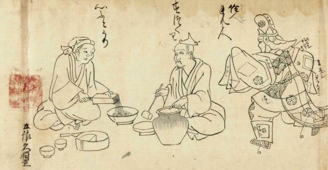 土佐光吉 《七十一番職人歌合》 (部分)1609年  (第4期)