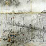 4期 収蔵品展 望月玉溪《平安百景之内 鴨磧納涼之図(模写)》